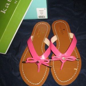 BNIB Kate Spade Deep Pink Sandals Size 6